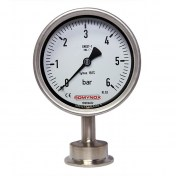 Pressure gauge - hygienic connection
